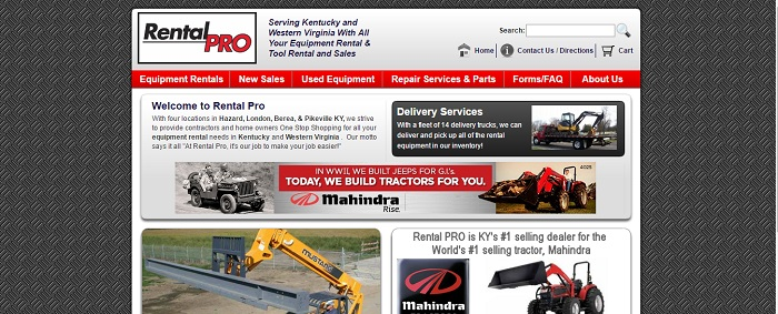 construction equipment rental kentucky rental pro