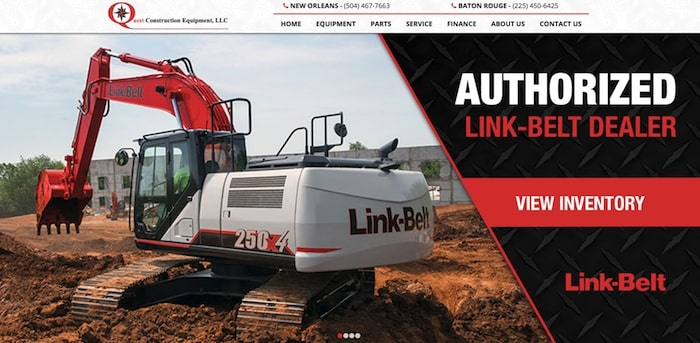 quest construction equipment website