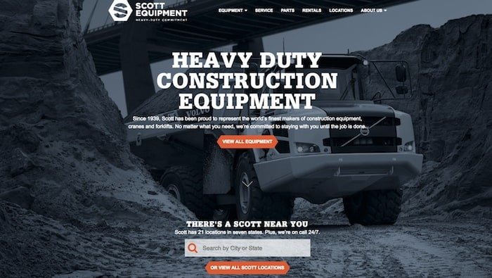 scott equipment website