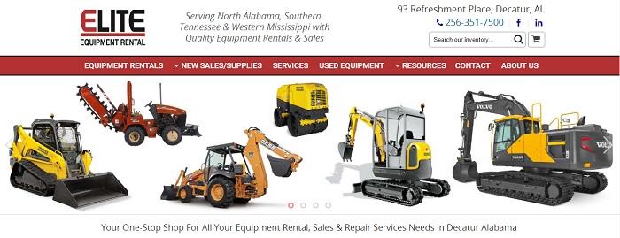 construction equipment rental alabama elite equipment rental