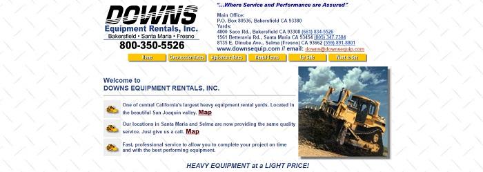 6 Construction Equipment Rental California Services