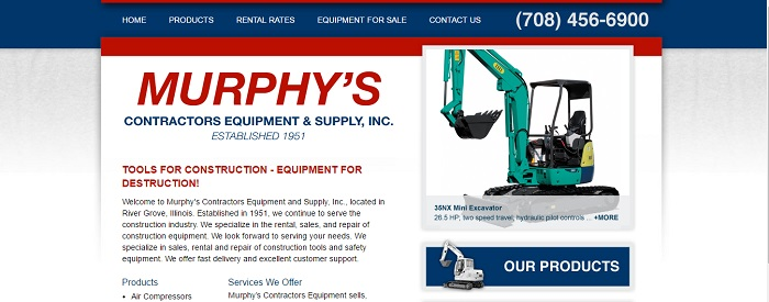 8 Construction Equipment Rental Illinois Services