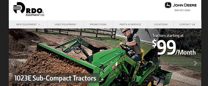 rdo sub-compact tractors rentals