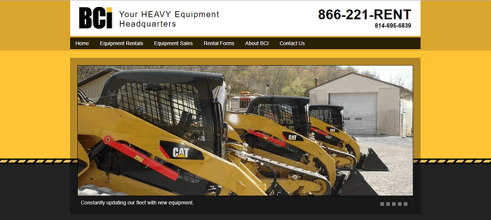 onstruction equipment rental pennsylvania