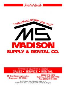 equipment rental Bridgeport