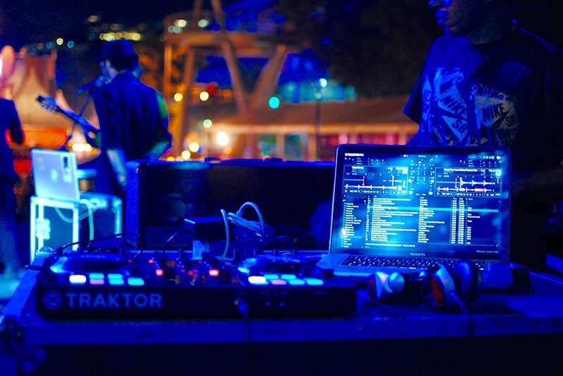 Musical instruments of a DJ