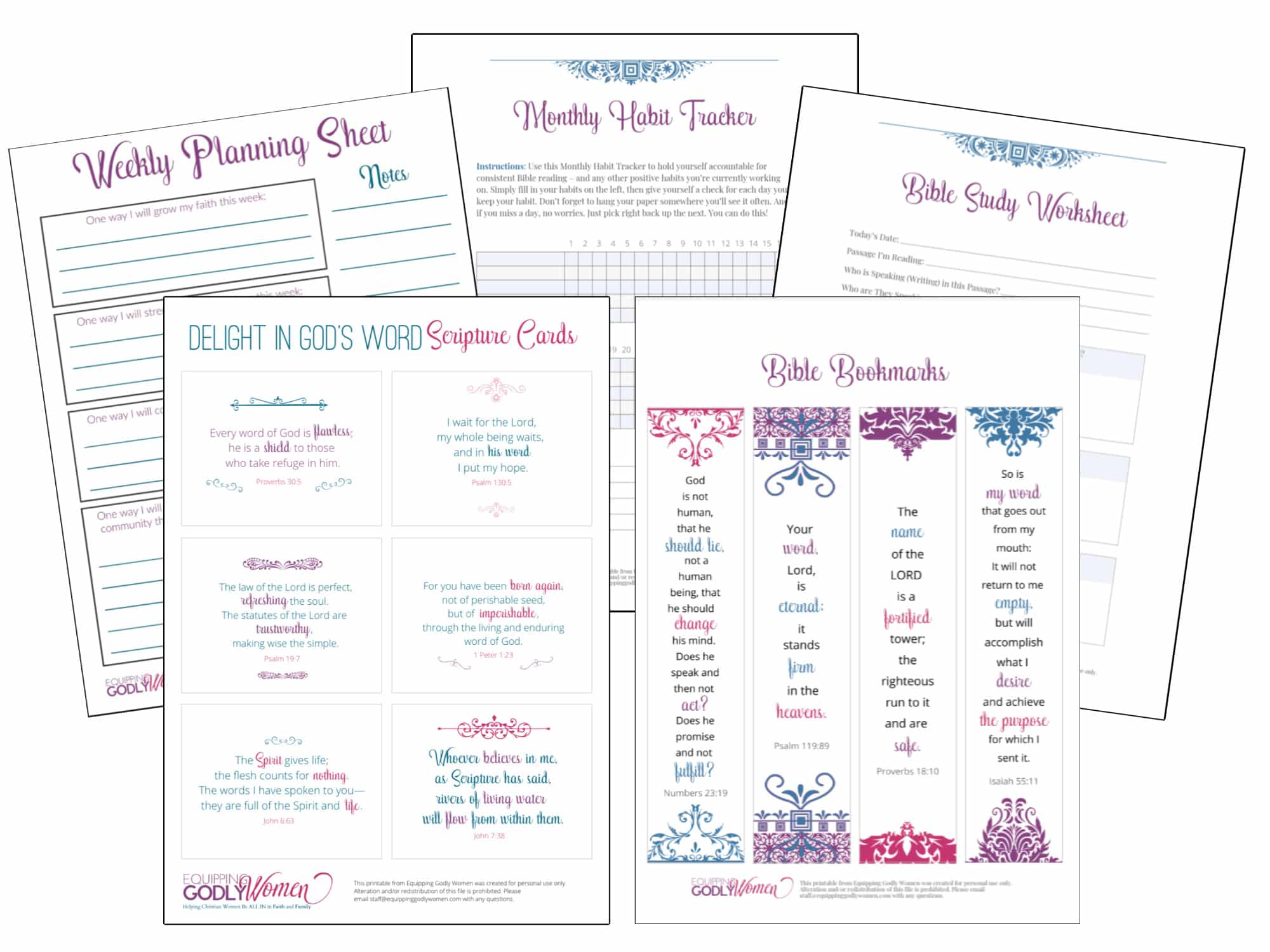 Free Christian Printables Bible Verse Cards Bookmarks