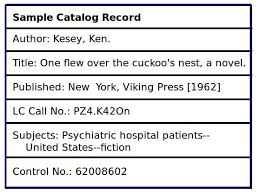 card catalog-sample