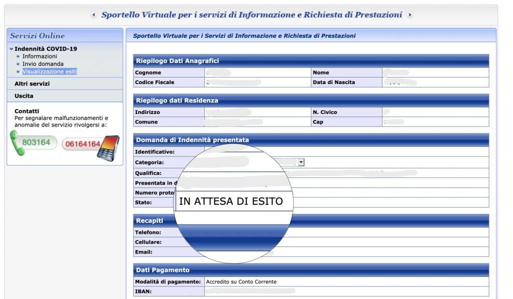 600 euro in attesa di esito