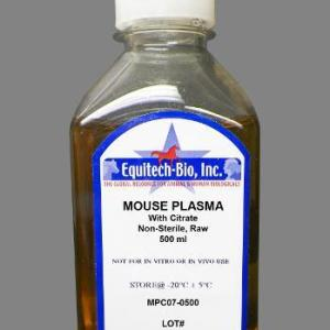 MPC07 -- Non-Sterile Mouse Plasma with Sodium Citrate