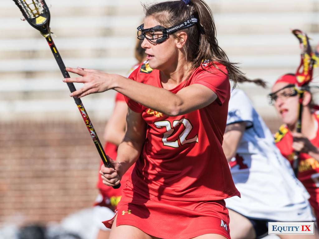 #22 Grace Griffin top Freshman for Maryland Terps - NCAA Women's Lacrosse © Equity IX - SportsOgram - Leigh Ernst Friestedt