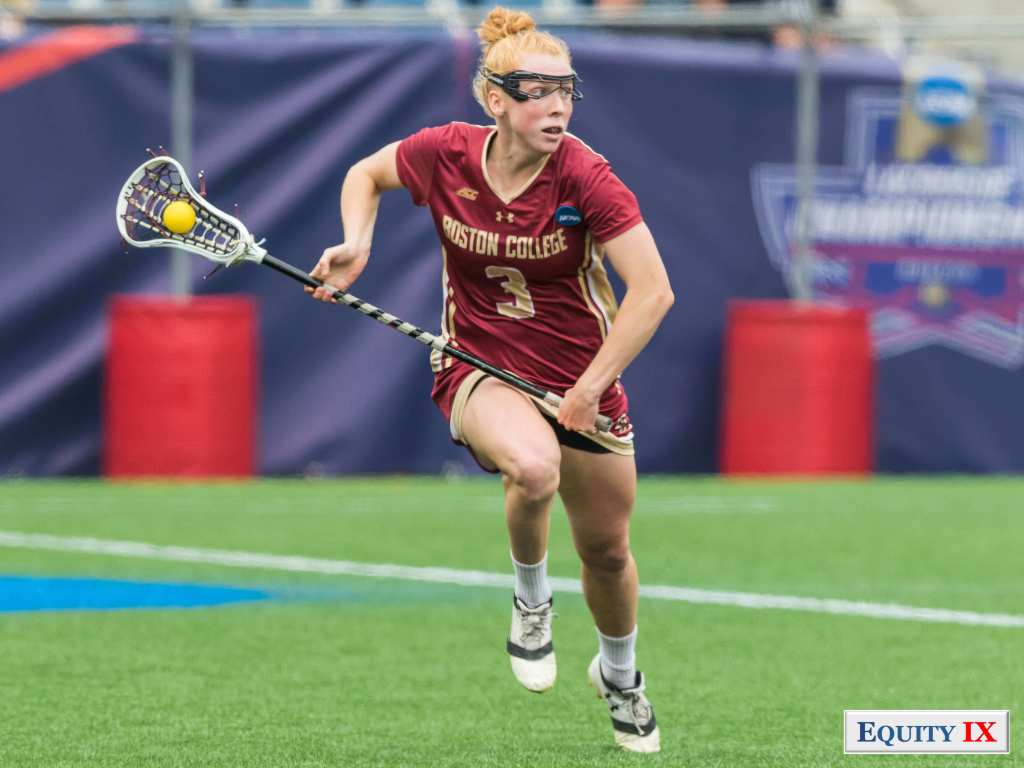 #3 Elizabeth Miller - Boston College - cradles the ball in midfield at 2017 NCAA Women's Lacrosse Final Four @ Equity IX - SportsOgram - Leigh Ernst Friestedt