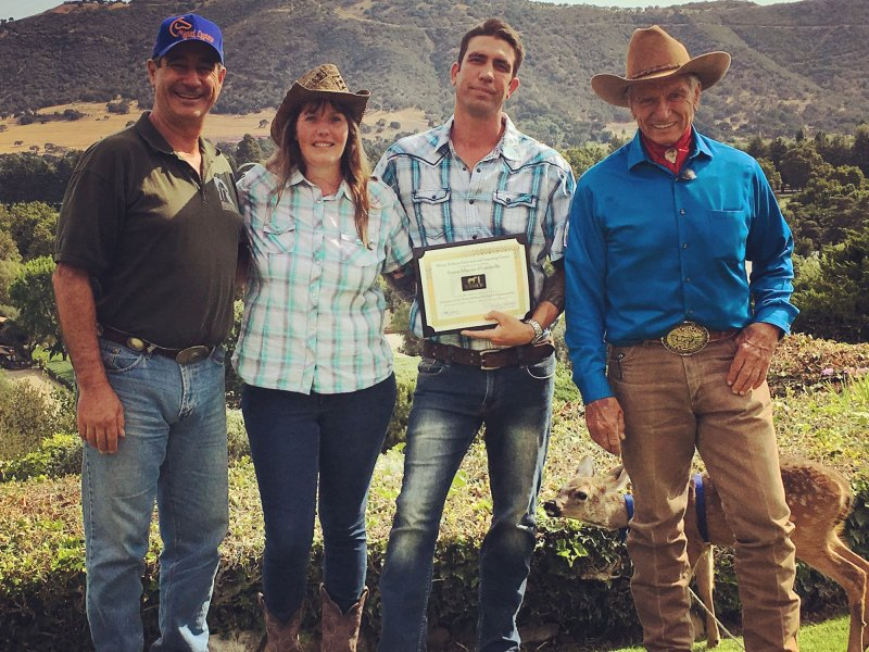 Simon Marrier d'Unienville - Monty Roberts Certified Instructor South Africa with Monty Roberts and Miguel Lupiano