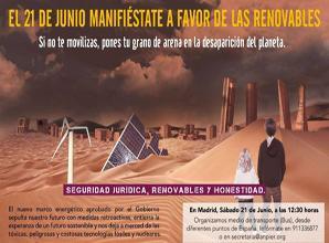 EQUO se suma a las movilizaciones en defensa de las Energías Renovables