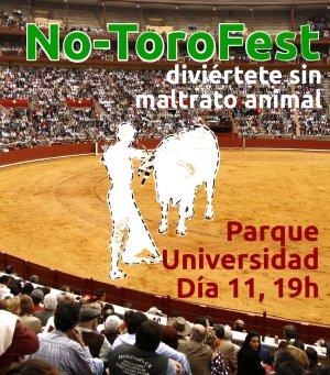 EQUO Huesca convoca la #NO-ToroFest el día 11 a las 19h en el Parque Universidad