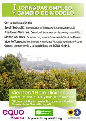 I Jornadas sobre Empleo y Cambio de Modelo: Estrategia 15/20 para Madrid