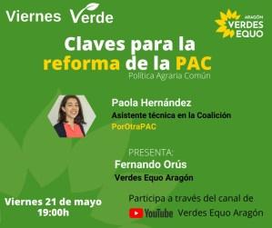 Viernes Verde – Claves para la reforma de la PAC – 21 de mayo a las 19:00h
