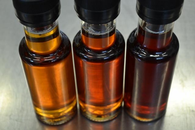 Grades de sirop: doré, ambré et foncé