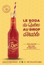 BecCanneberges- boissons gazeuse biologique au sirop d'érable
