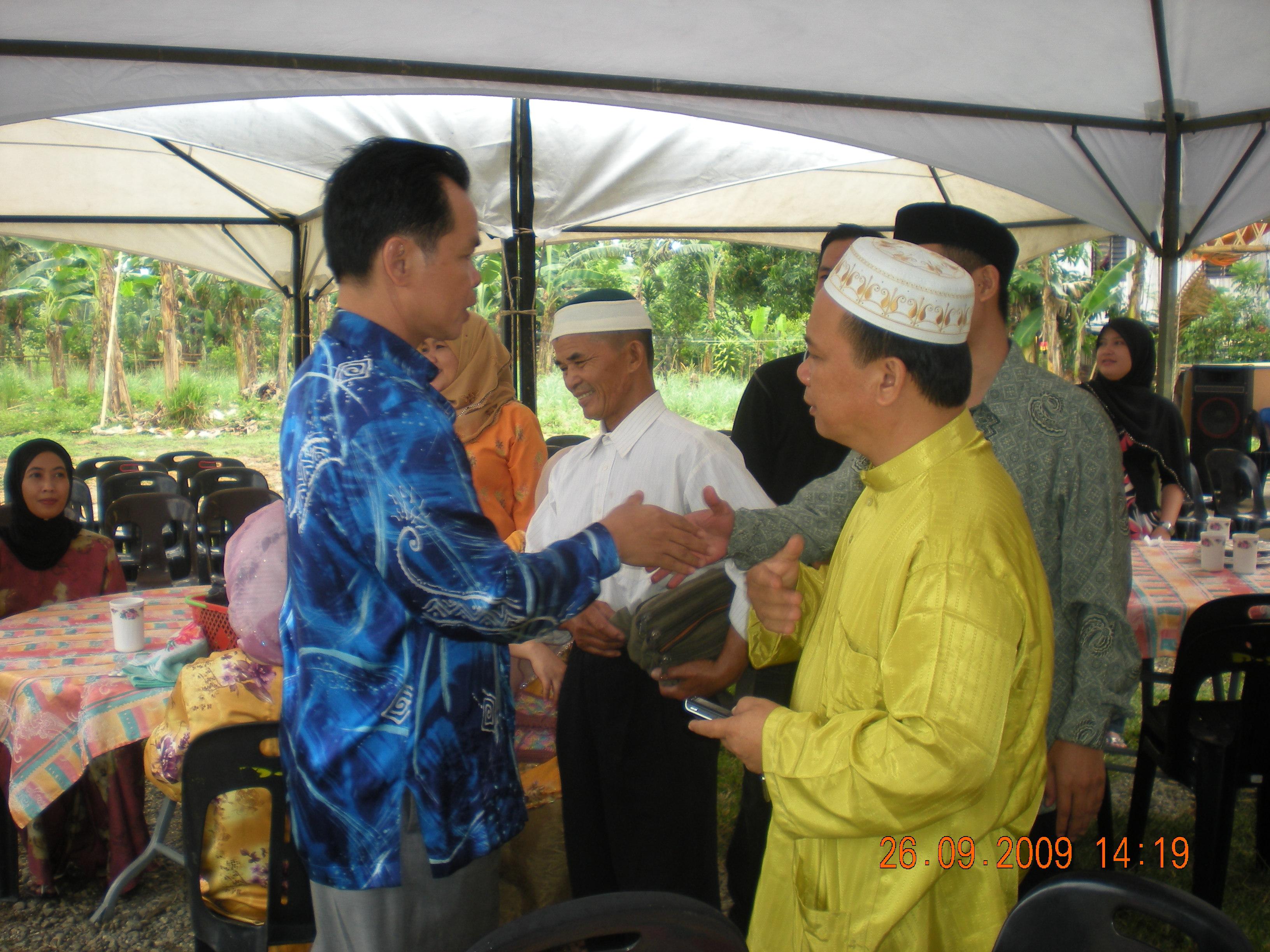 YB Datuk Rizalman Abdullah, antara orang kenamaan yang hadir. Terimakasih Datuk