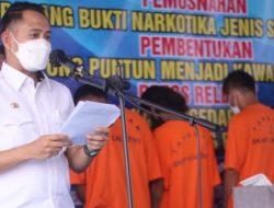 Pemko Palangka Raya dan BNNP Musnakan Barang Bukti Sitaan