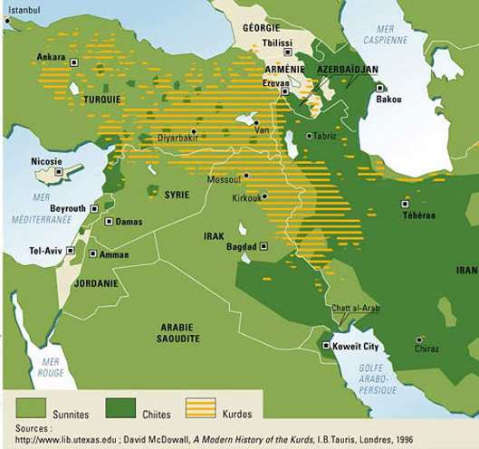 Η περιοχή του Κουρδιστάν.