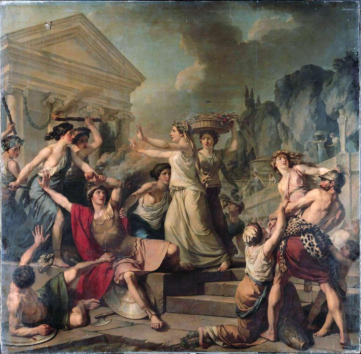 Γυναίκες στην αρχαία Σπάρτη. Jean-Jacques-François Le Barbier - Courage des femmes de Sparte.