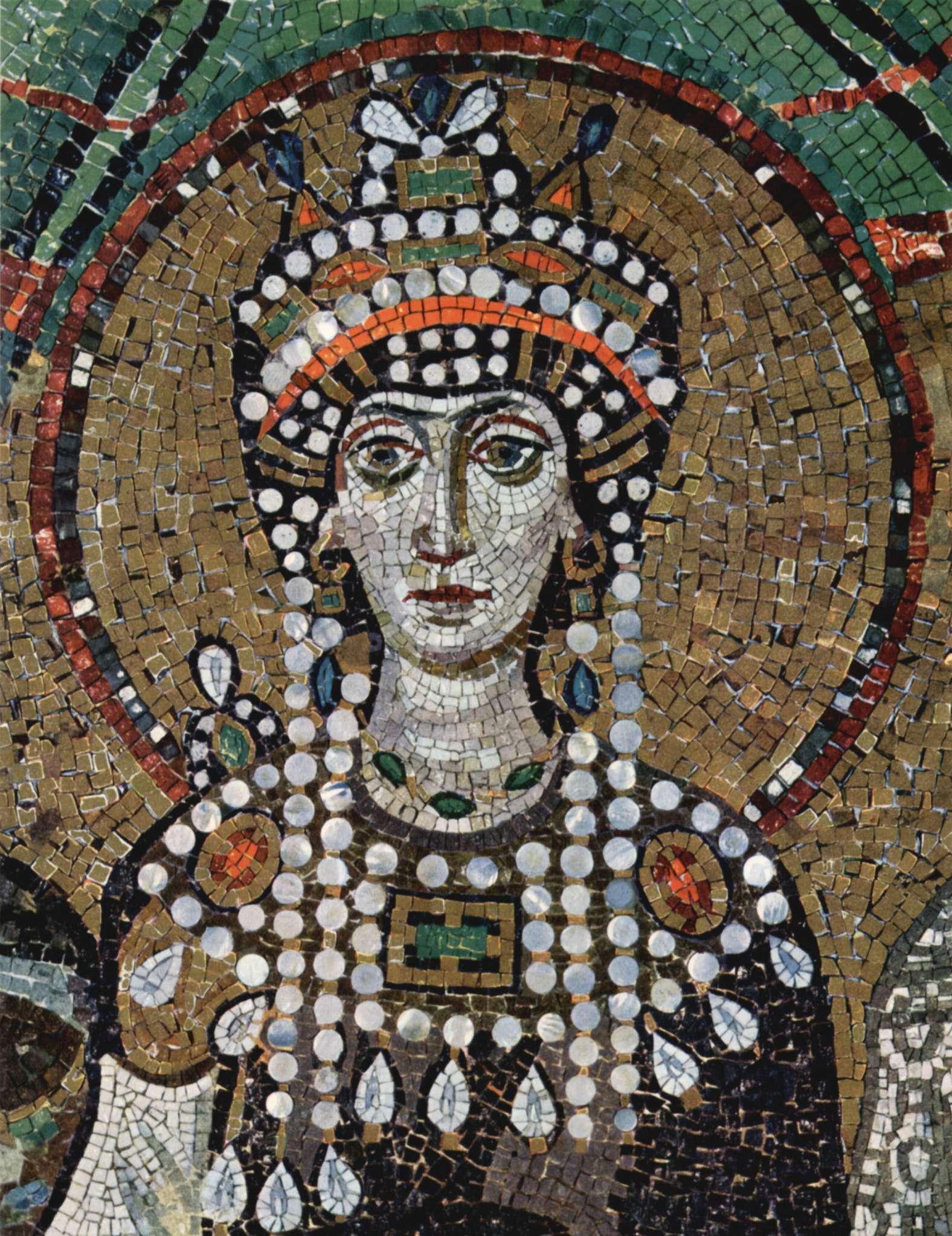 Η Θεοδώρα από μωσαϊκό του Αγίου Βιταλίου στη Ραβέννα