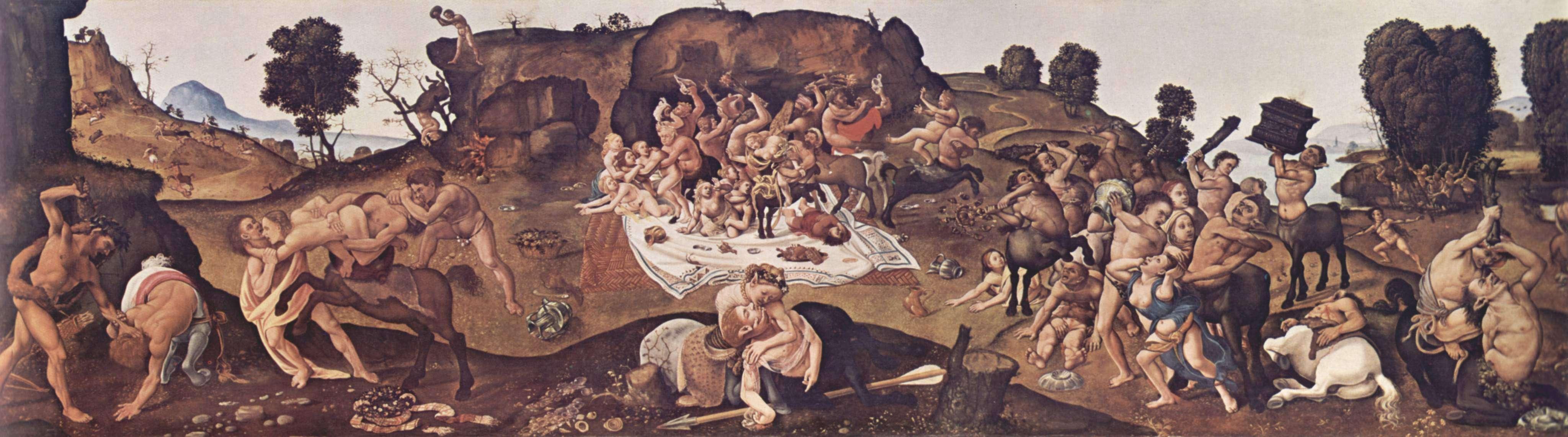 Η μάχη των Λαπιθών και Κενταύρων σε πίνακα του Πιέρο ντι Κόζιμο