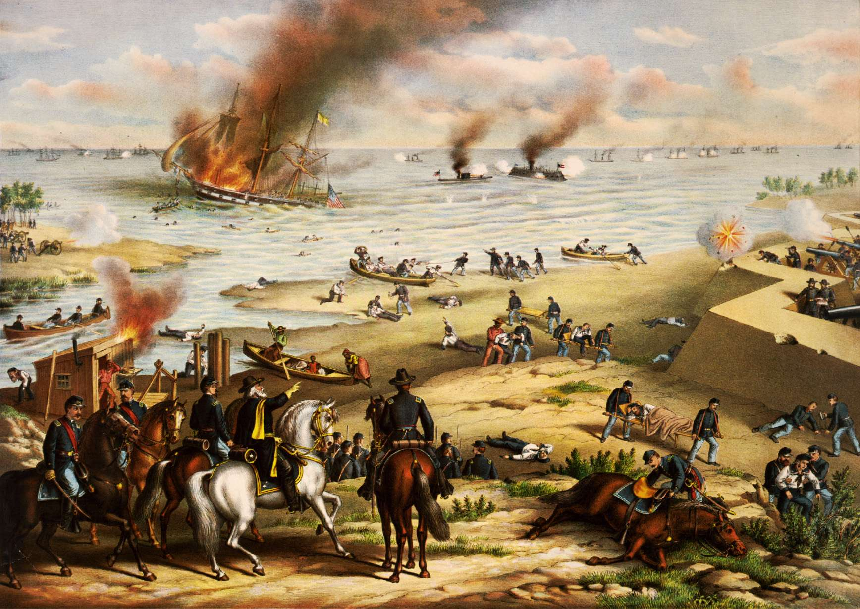 Confederate ironclads at Norfolk and New Orleans dispersed blockade, until Union ironclads could defeat them.