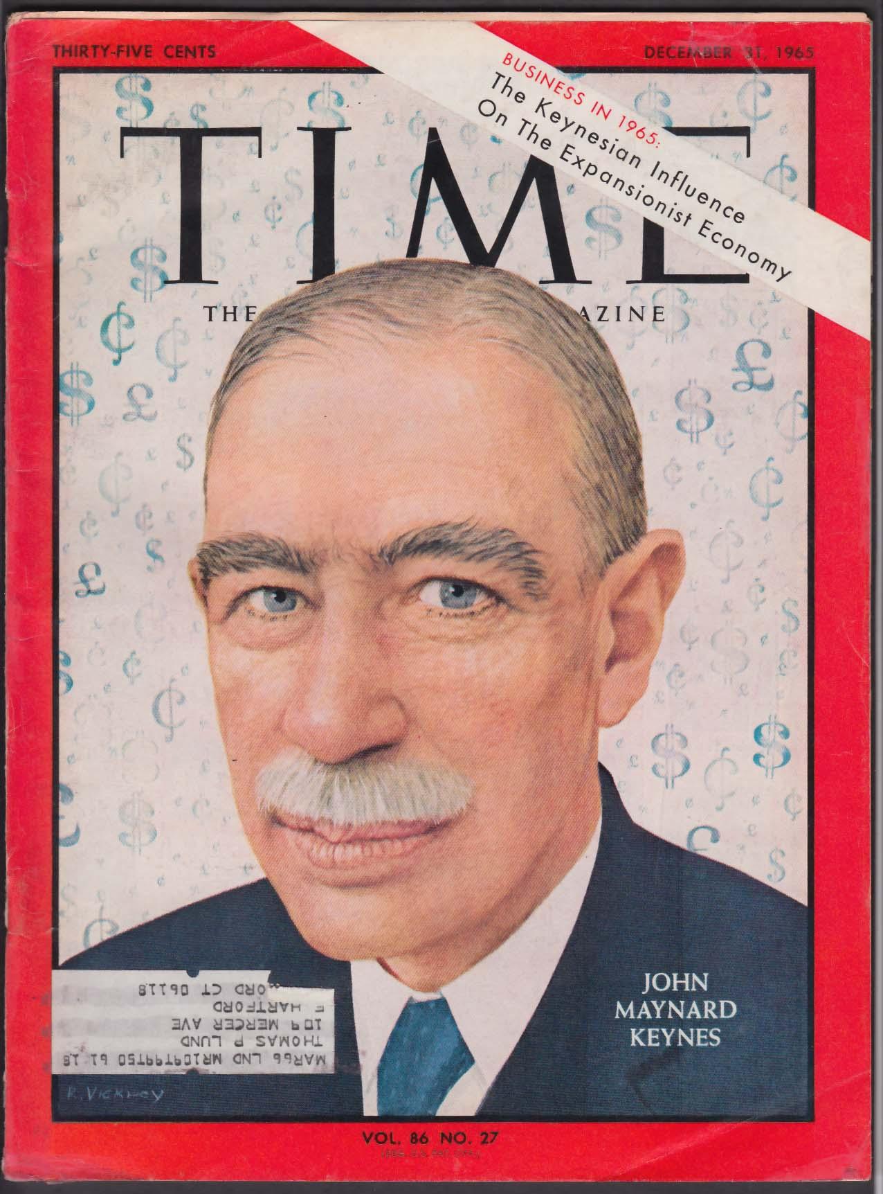 Ο Τζων Μέυναρντ Κέυνς, πρώτος βαρώνος Κέυνς του Τίλτον (John Maynard Keynes, 5 Ιουνίου 1883 – 21 Απριλίου 1946) ήταν Άγγλος οικονομολόγος, μαθηματικός, καθηγητής πανεπιστημίου, συγγραφέας και ανώτατος κρατικός υπάλληλος. Εξώφυλλο του περιοδικού TIME