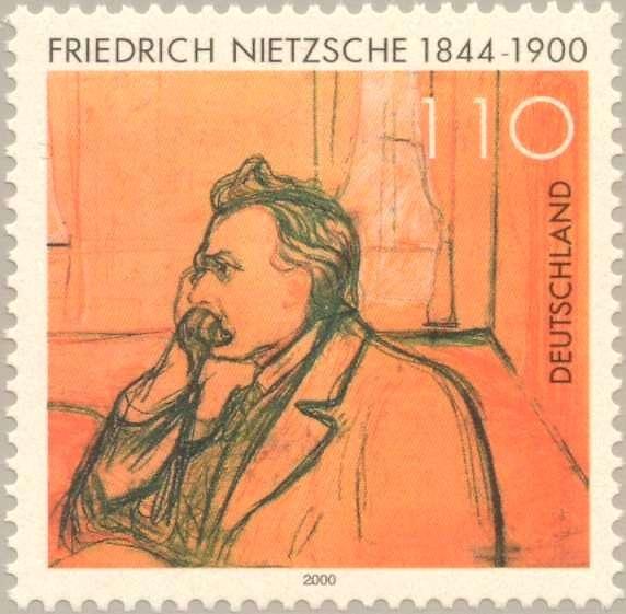 Ο Φρίντριχ Βίλχελμ Νίτσε (γερμ. Friedrich Wilhelm Nietzsche) (Ραίκεν, 15 Οκτωβρίου 1844– Βαϊμάρη, 25 Αυγούστου 1900[1]). Γερμανικό γραμματόσημο