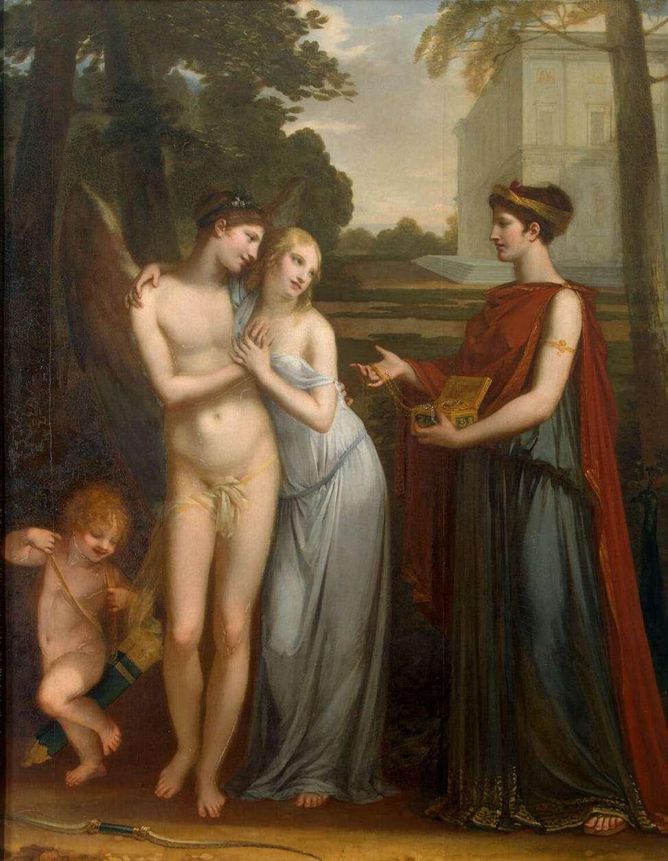 Η αθωότητα επιλέγει τον έρωτα από τον πλούτο, 1804, Αγία Πετρούπολη, Ερμιτάζ. Πιερ-Πωλ Πρυντόν (Pierre-Paul Prud'hon, 4 Απριλίου 1758 – 16 Φεβρουαρίου 1823).