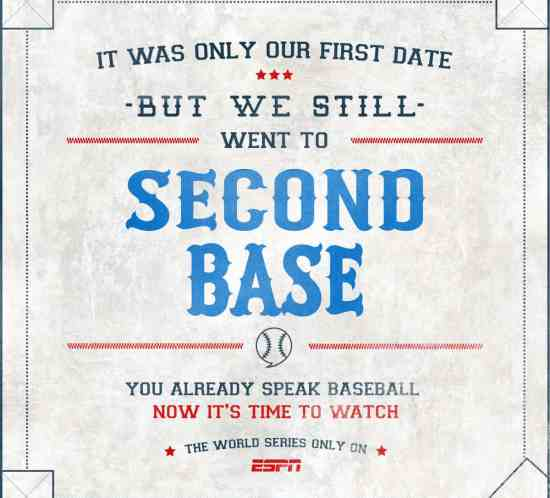 ESPN World Series Baseball Eran Thomson Creative Director, Copywriter