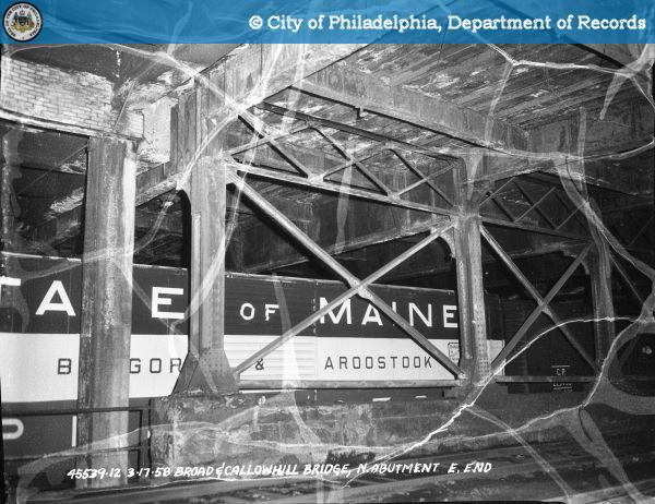 Bridge on Broad Street North of Callowhill Street: North Abutment - East End.