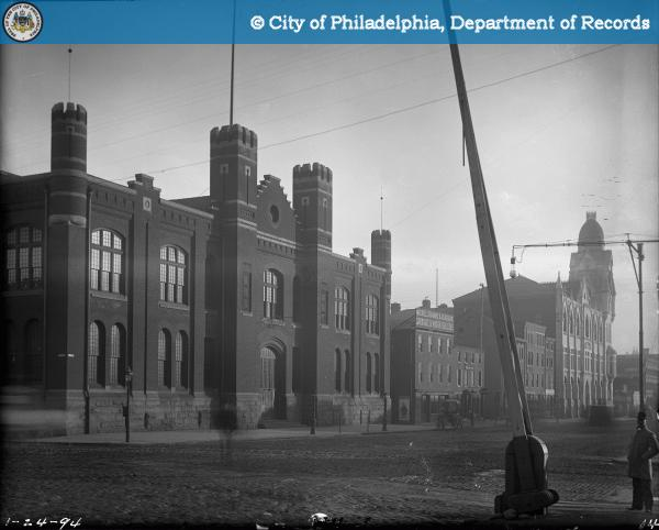 20160112135901 - North Broad Street - North at Callowhill - View of Armory and Cahill High School