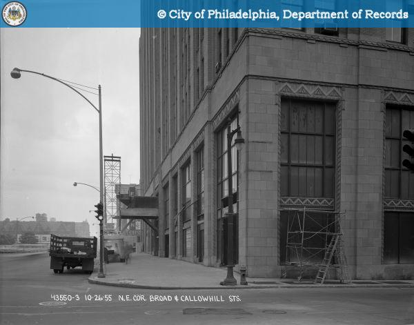 Northeast corner Broad and Callowhill Streets..