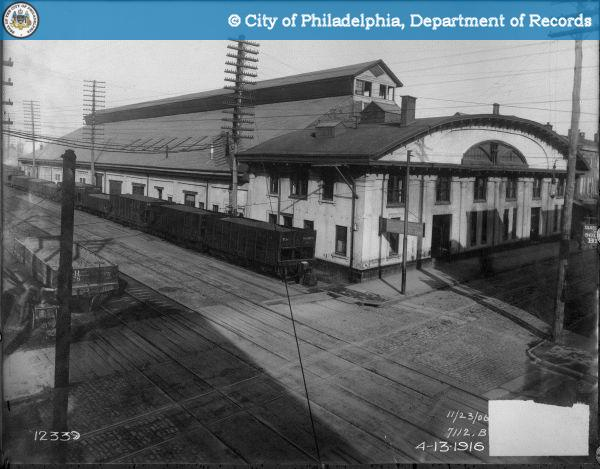 Philadelphia & Reading Freight Station - 9th and Green Streets. Copy of Reading Railroad Negative 7112 - November 23, 1906