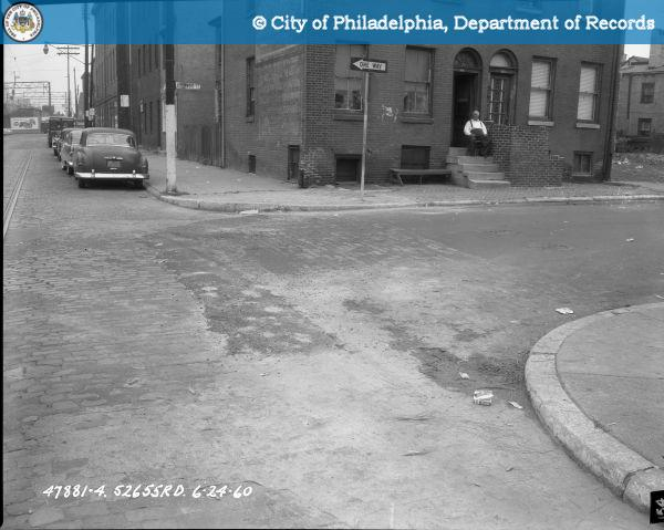 Contract S - 2655 - R.D. - 9th Street; Buttonwood Street to Spring Garden Street: 9th Street and Buttonwood Street Looking North on East Side.