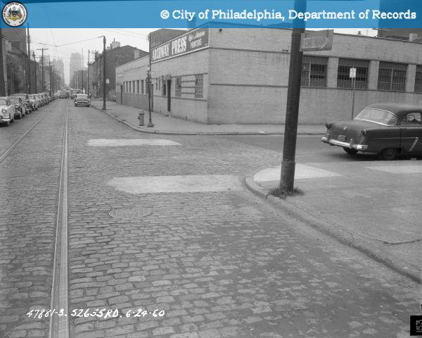 Contract S - 2655 - R.D. - 9th Street; Buttonwood Street to Spring Garden Street: 9th Street and Buttonwood Street Looking South on West Side.