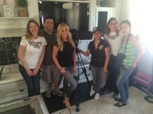 Crew of Erasing Family with Tamra Judge www.erasingfamily.org