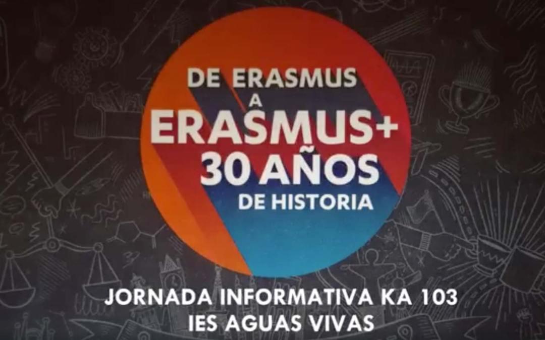 Celebración Erasmus+ en el IES Aguas Vivas: 1ª Jornada Erasmus+ KA103