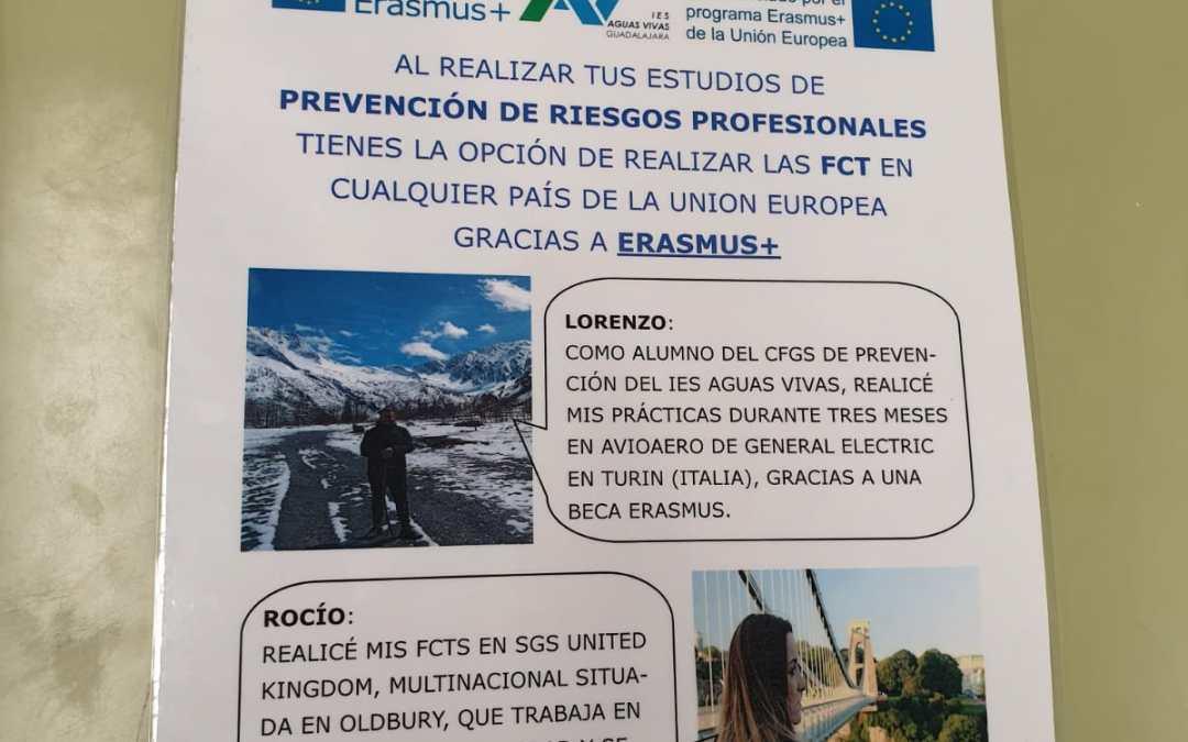 Nuestro alumnado de Grado Superior promociona Erasmus+ en la feria de FP de Guadalajara