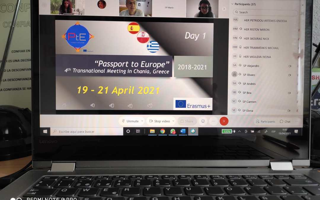 Día 1 de la Movilidad Virtual del KA229 PASSPORT TO EUROPE