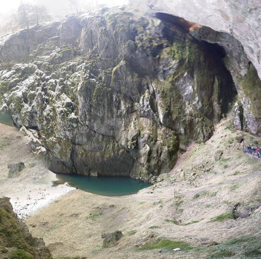 Beautiful lake coming from the cave and giving a wonderful landscape