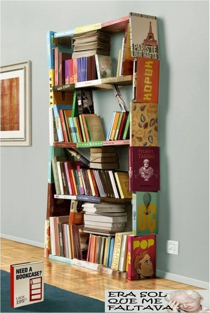 estante de livros  eraSOLquemefaltava