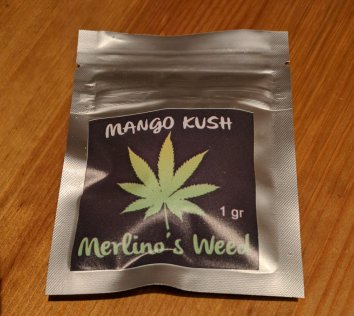 Bustina di Mango Kush Merlino canapa light