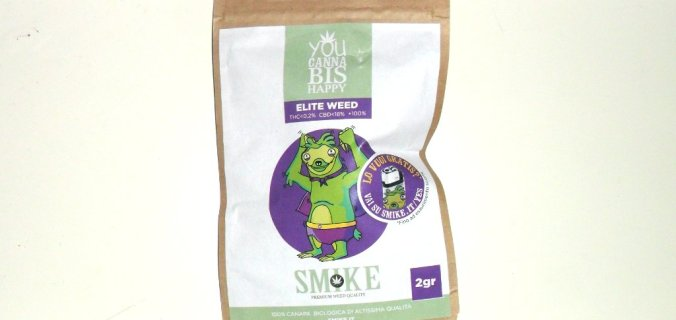 Bustina di canapa legale Elite Weed di Smike