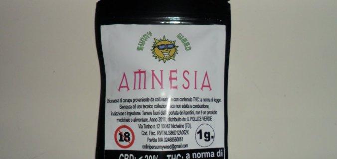 Confezione canapa legale Amnesia di Sunny weed