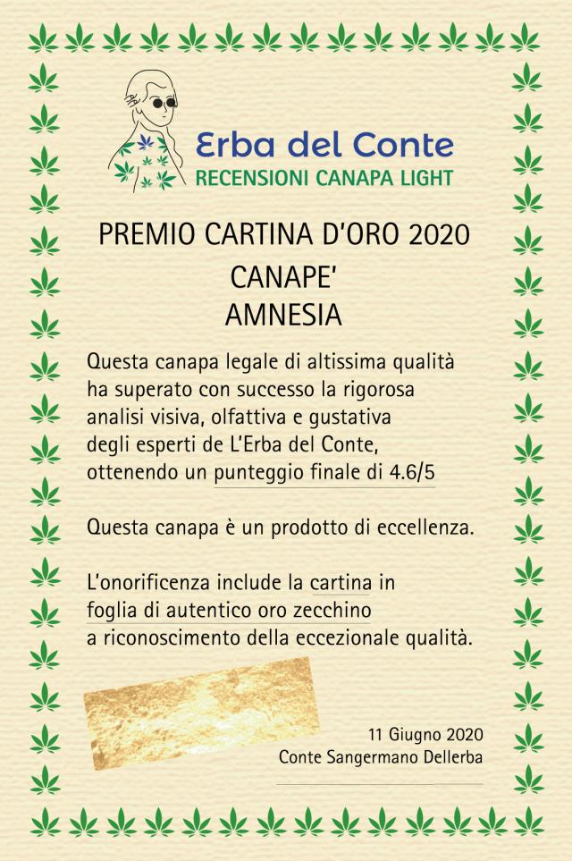 certificate cartina d'oro